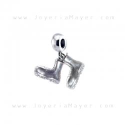 Charm de plata botas de peregrino