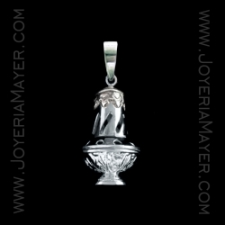 Pendant incensary of Compostela silver
