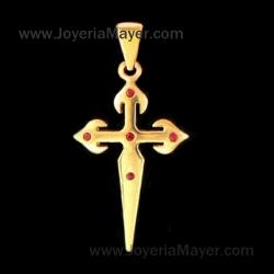 Cruz de Santiago de oro