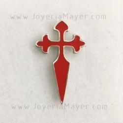 Pin cruz de Santiago de plata