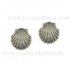Pendientes de plata concha de Compostela