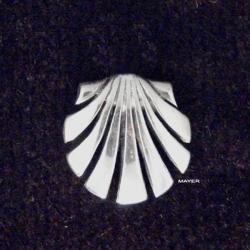 pin de plata concha de compostela
