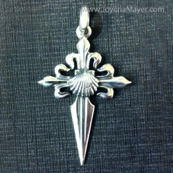 cruz de santiago de plata