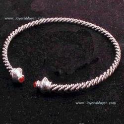 Gargantilla torque celta de coral y plata