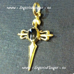Cruz de Santiago de oro y azabache