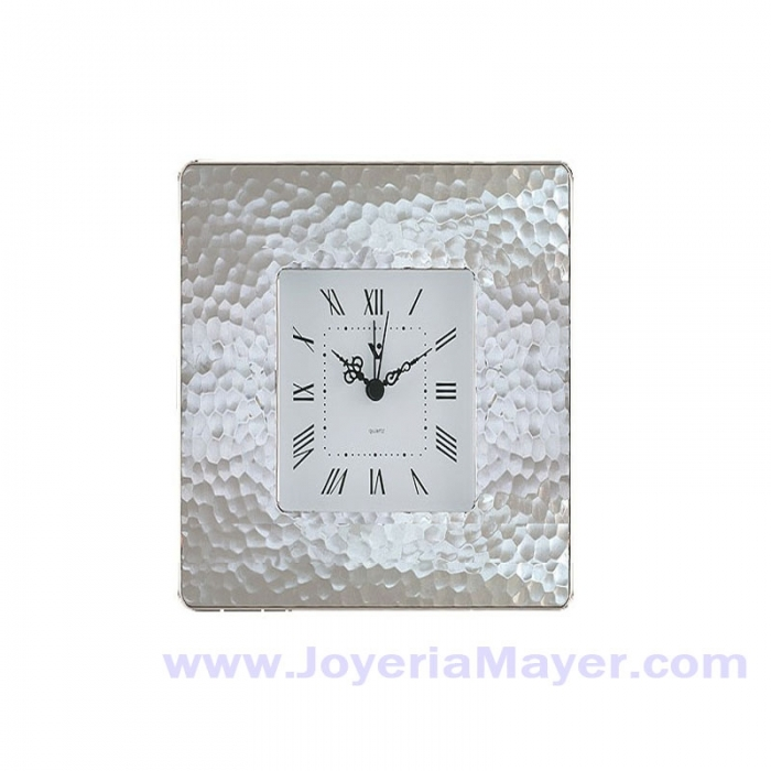 Reloj despertador de plata