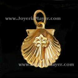 colgante concha de compostela de oro
