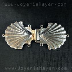 Broche de capa de plata