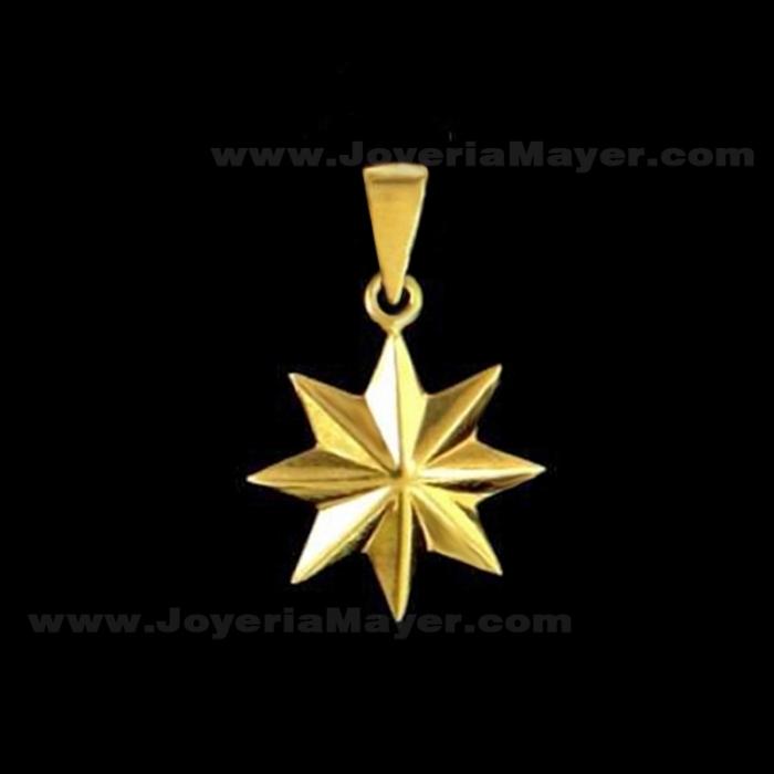 Colgante estrella de Compostela de oro