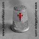 Dedal de plata con cruz de Santiago