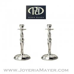 Candeleros de plata (pareja)